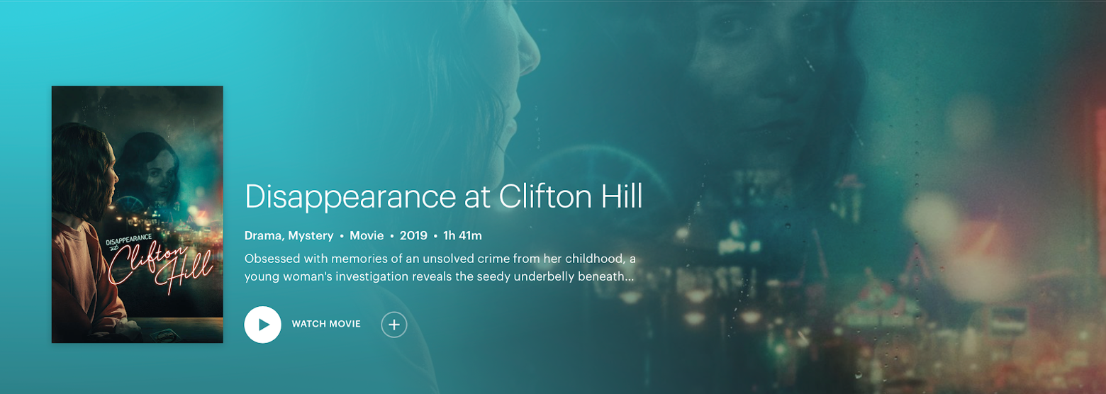Disappearance at Clifton Hill Hulu