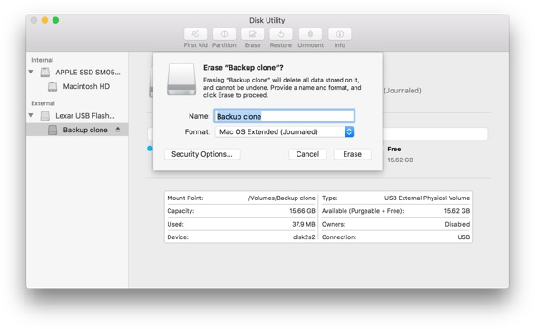 Clone hard drive with Disk Utility