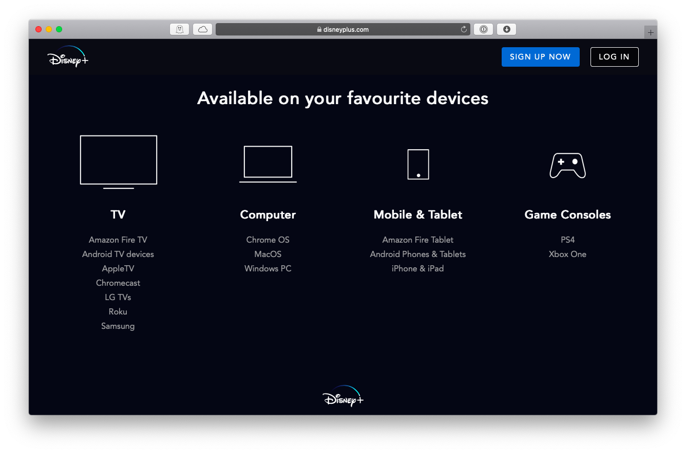 Disney Plus available devices Mac
