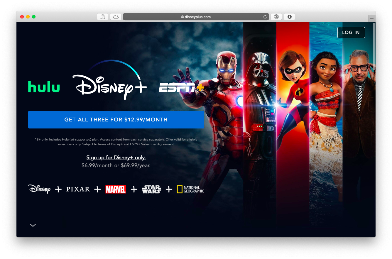Disney Plus streaming service Mac