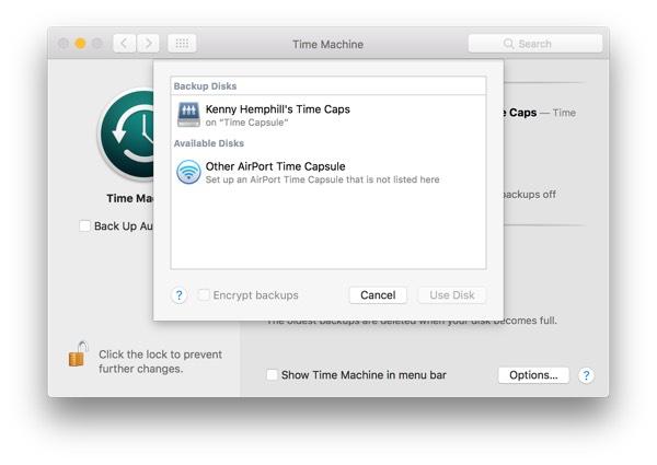 delete time machine backups sierra