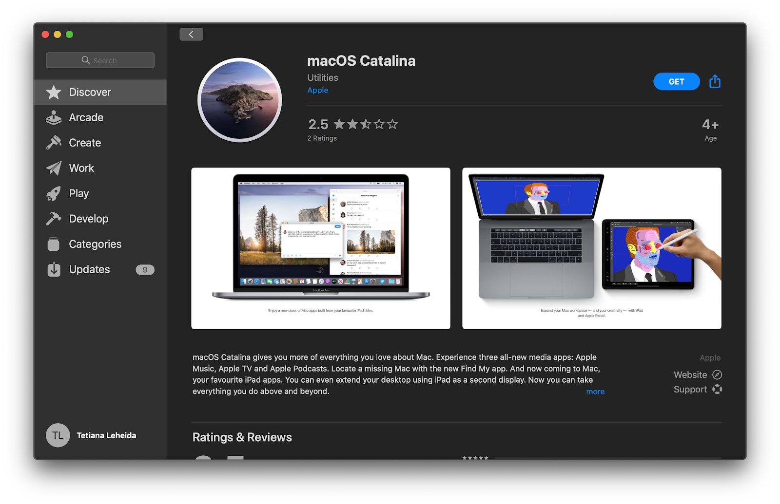 download macOS Catalina App Store