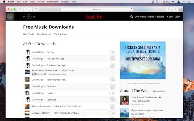 Websites for free, legal music downloads