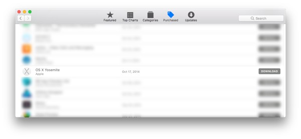 Download OS X Yosemite