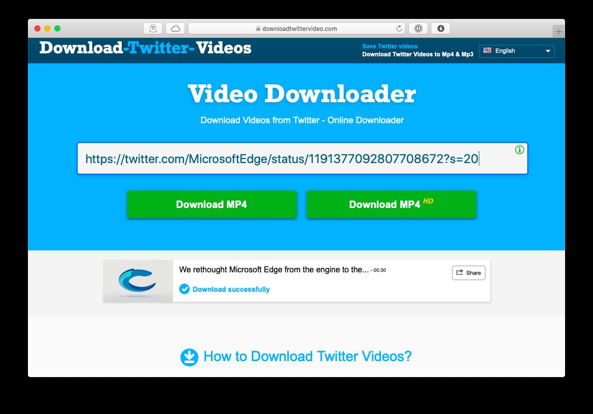downloadtwittervideo website download video twitter