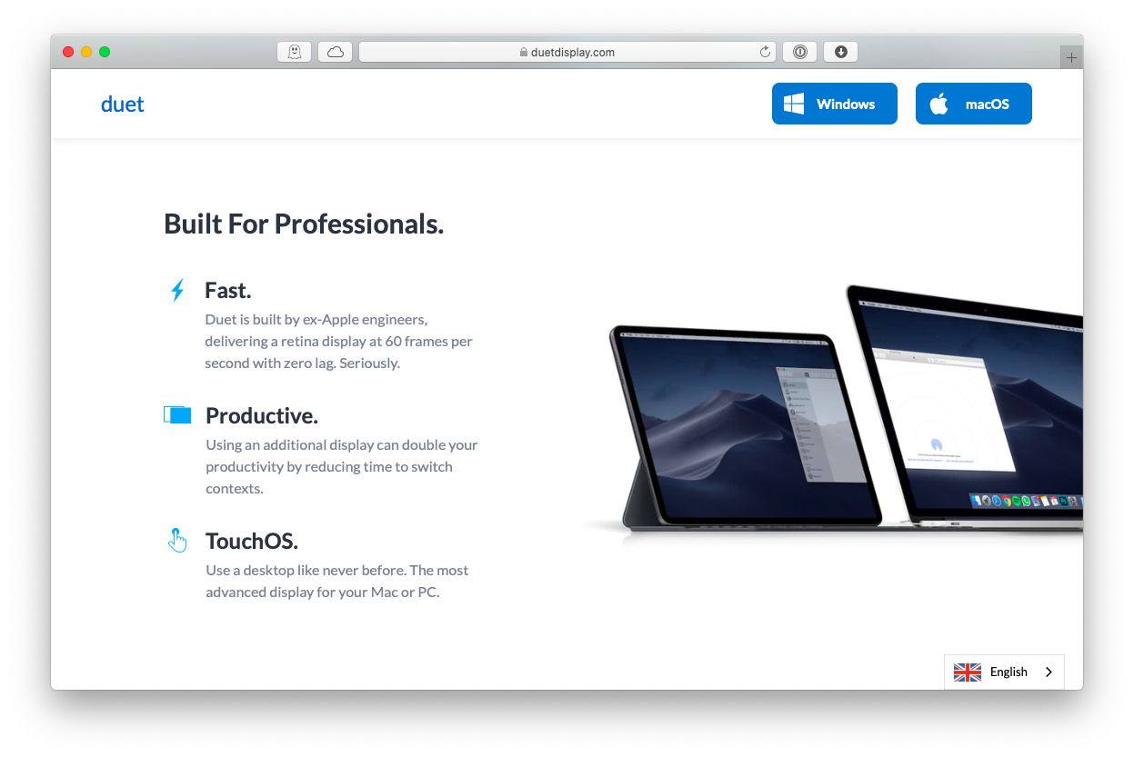 duet display 3rd party app Mac monitor