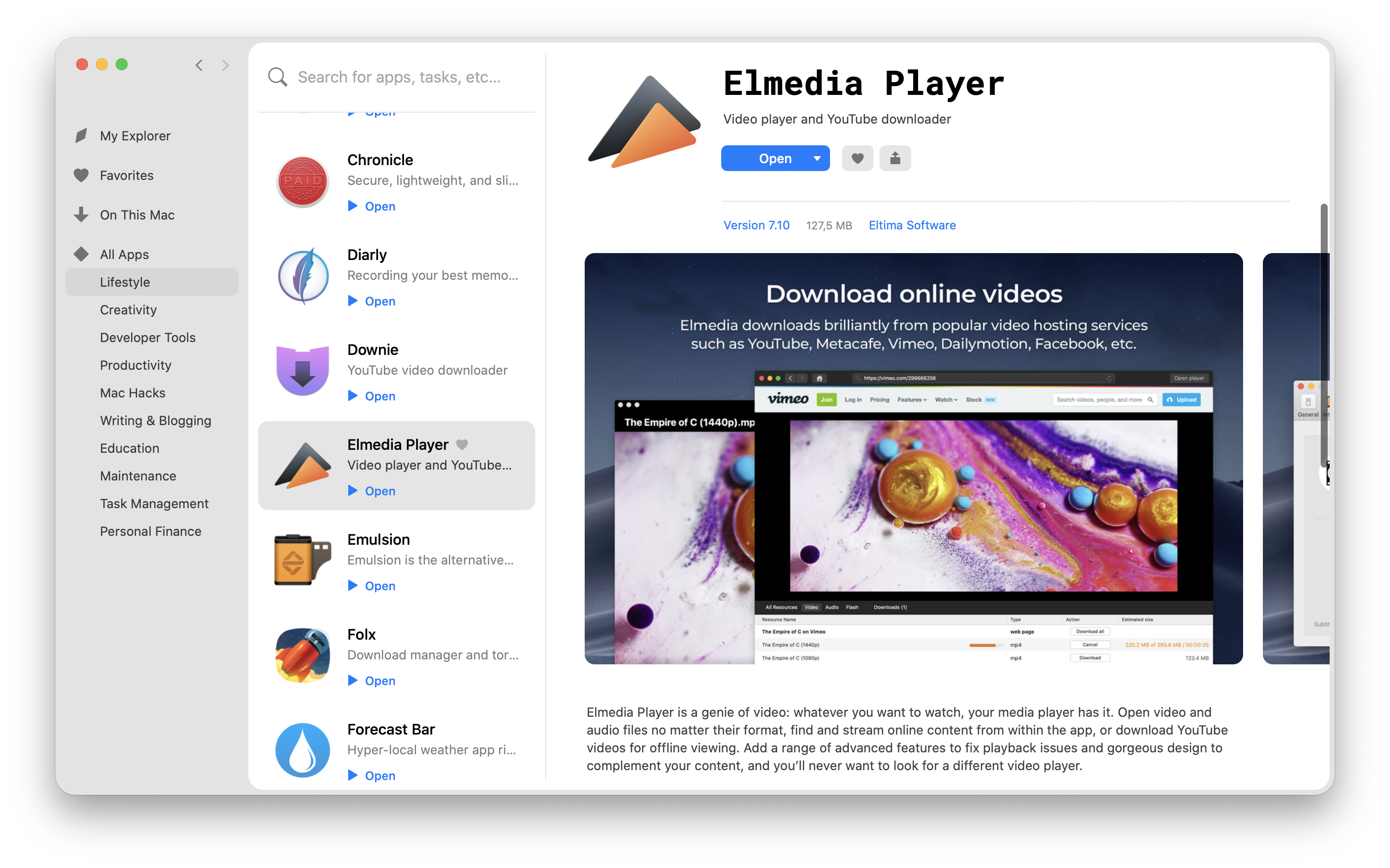 Elmedia downloader to save your favorite Hulu content