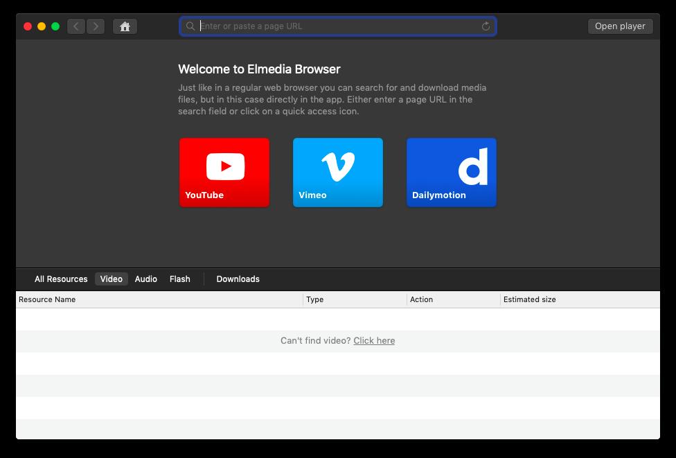 Elmedia Player download videos YouTube