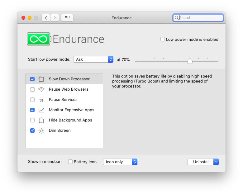 Endurance battery extend MacBook