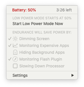 Endurance battery saver