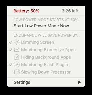 Endurance battery saver