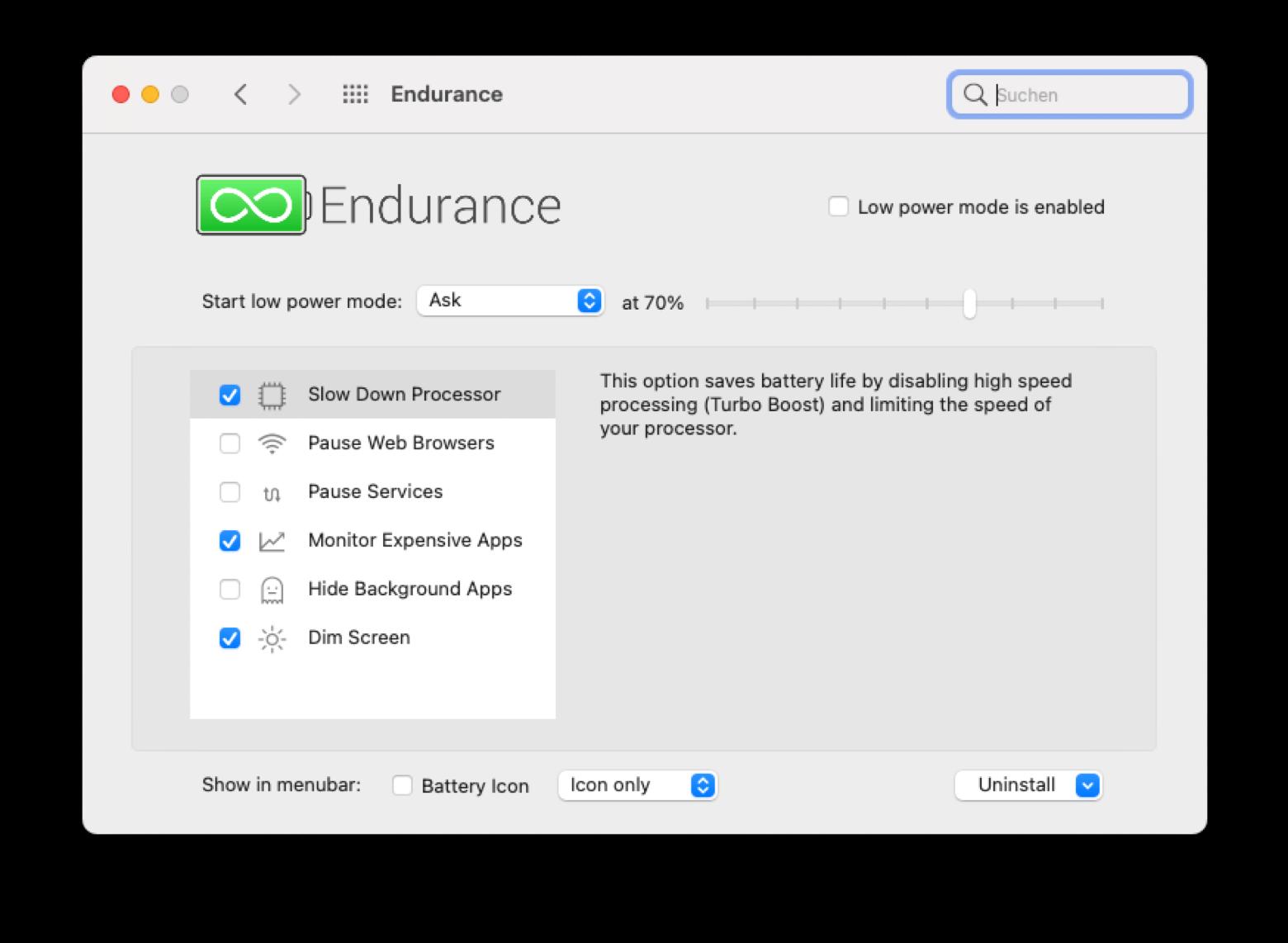 Extension de la batterie de votre Mac avec Endurance