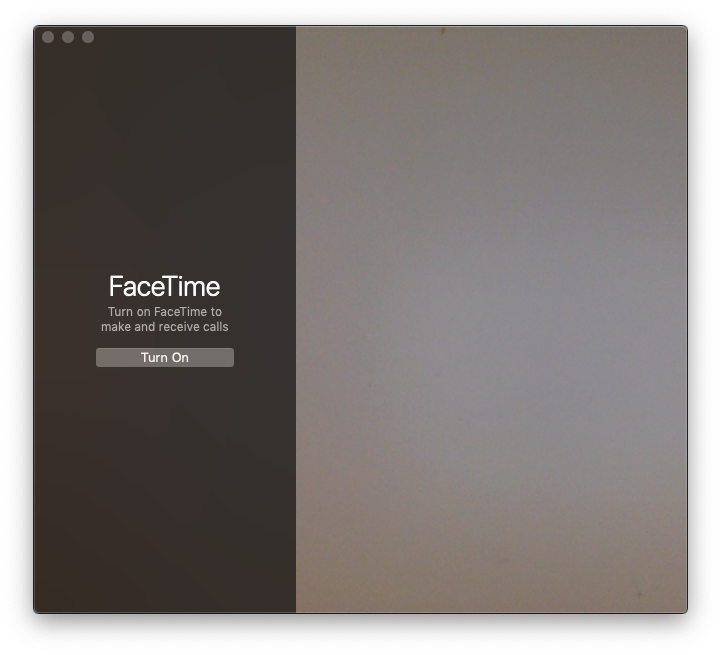 facetime mac interface