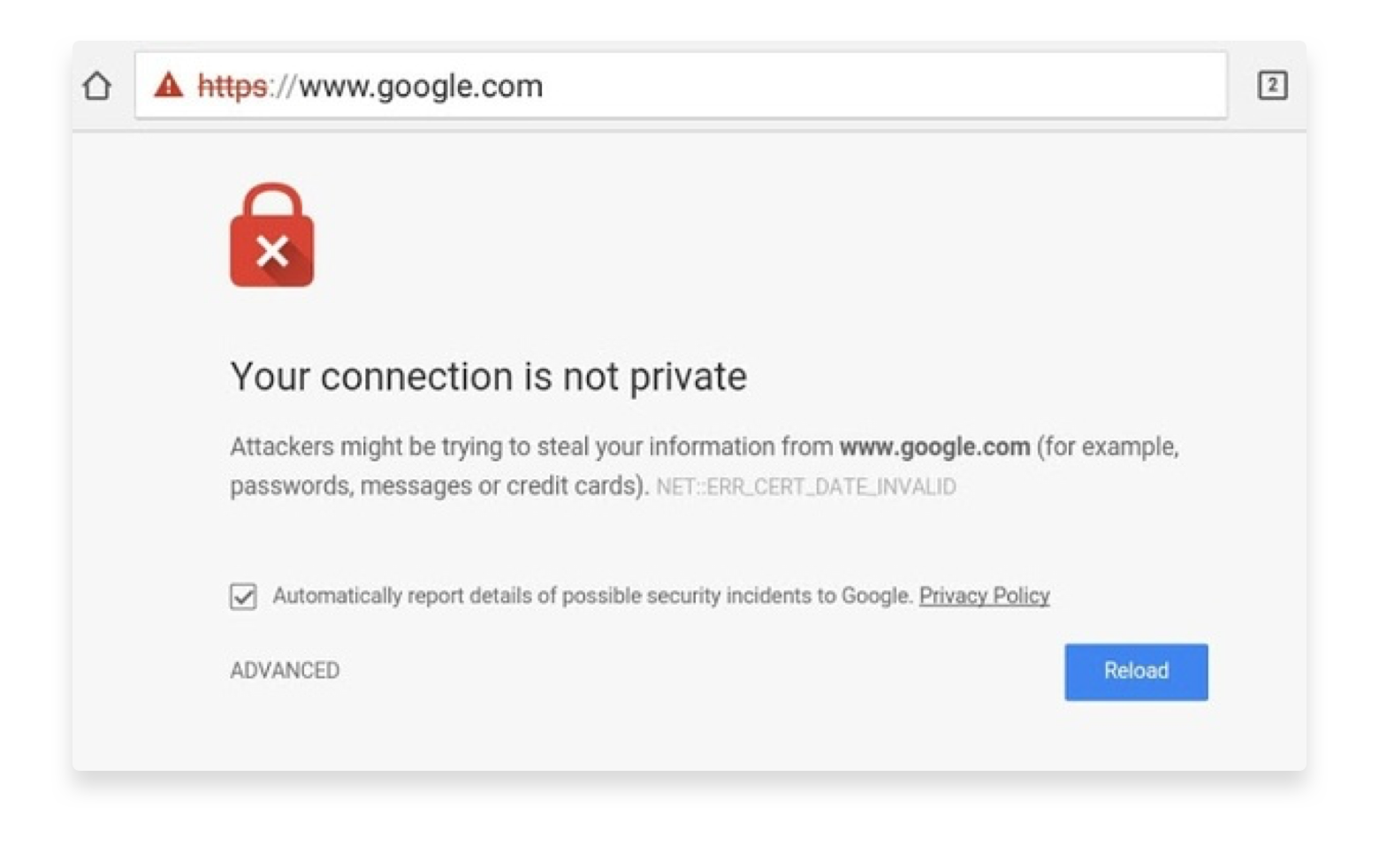 your connection is not private error Firefox