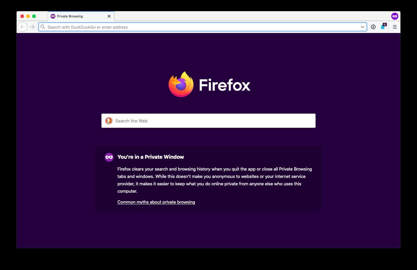 Firefox private window enable Mac