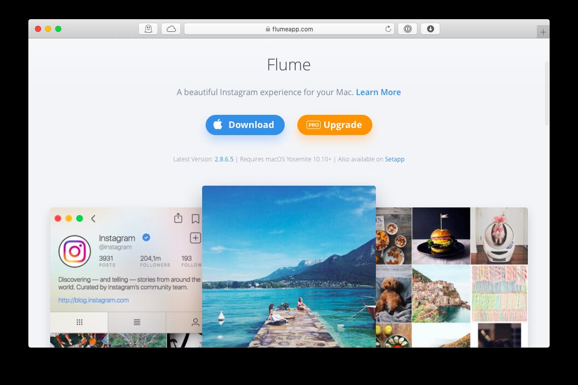 flume mac app instagram