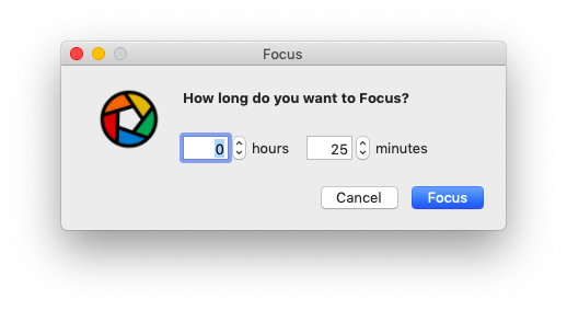 focus menu bar mac app