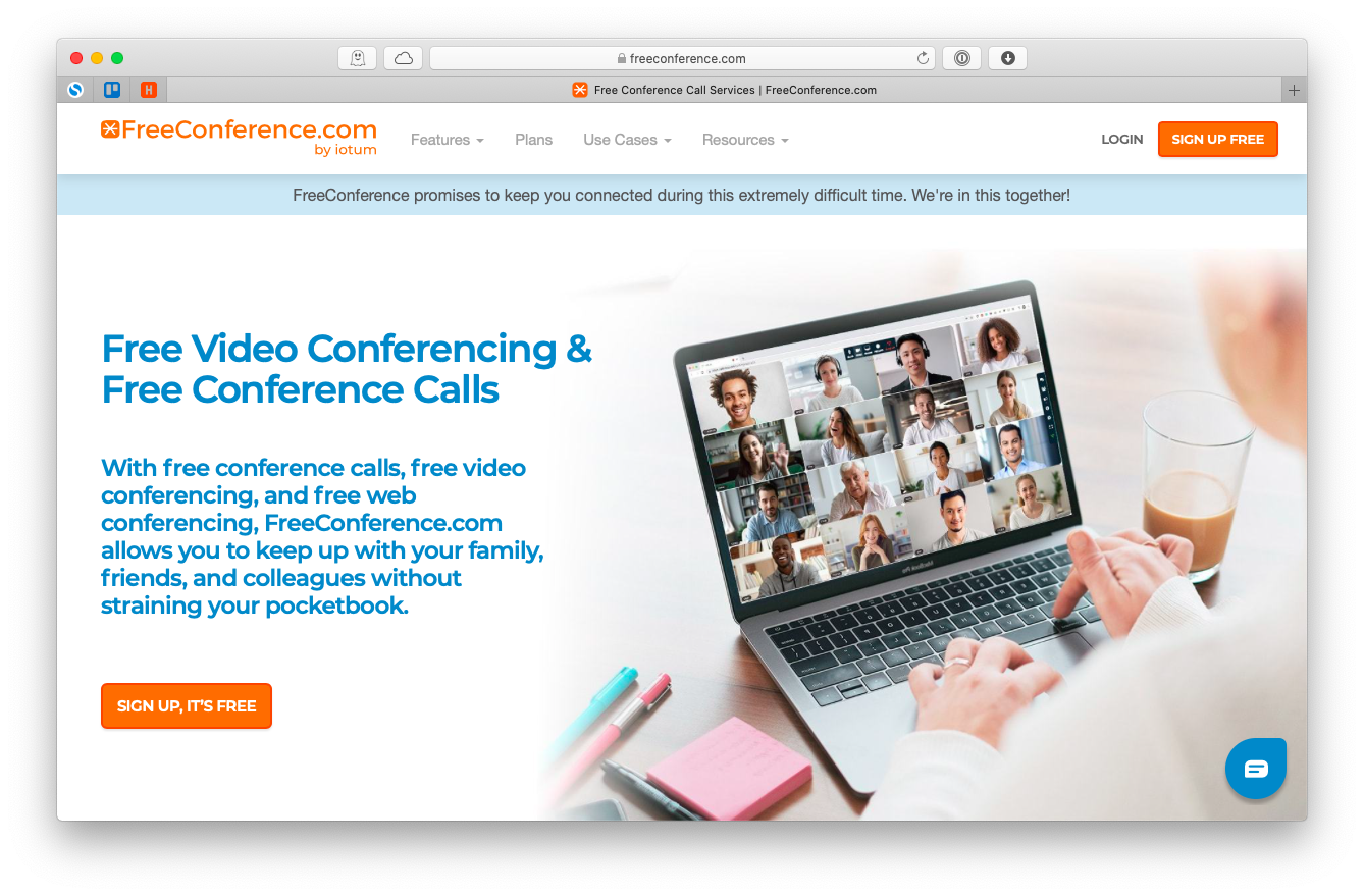 FreeConference free app video Mac