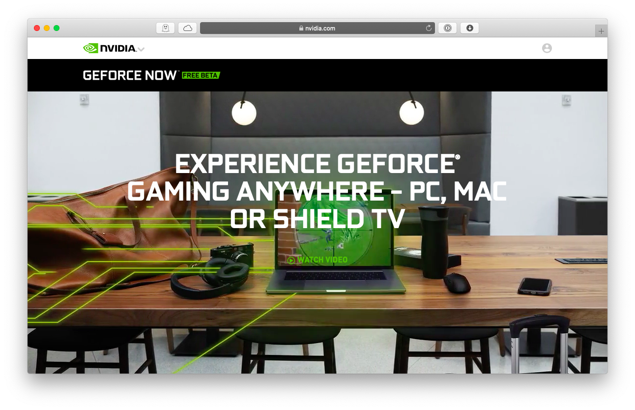 GeForce Now Mac gaming