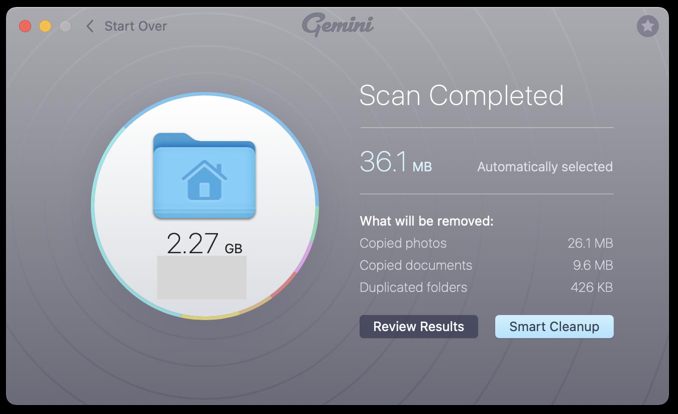 find duplicates on mac with gemini