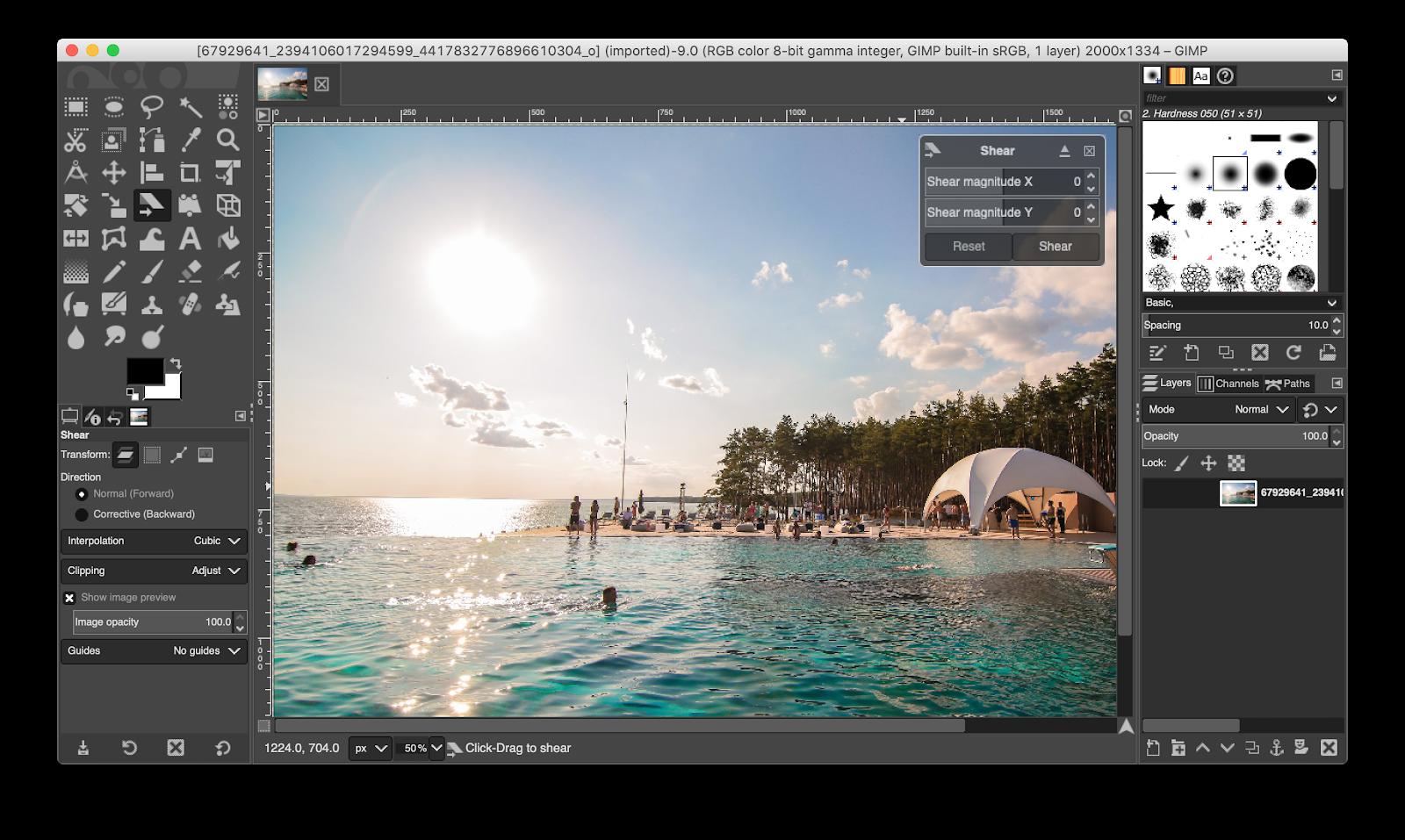 GIMP photo editing
