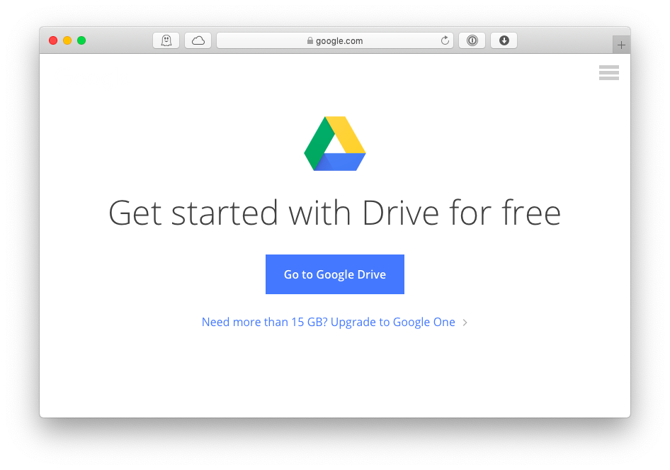 google drive download mac