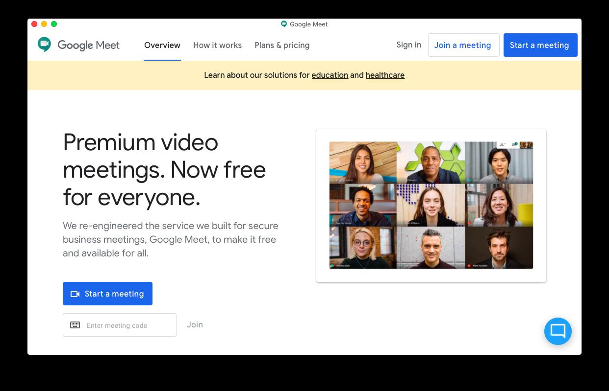 Google Meet Mac native app