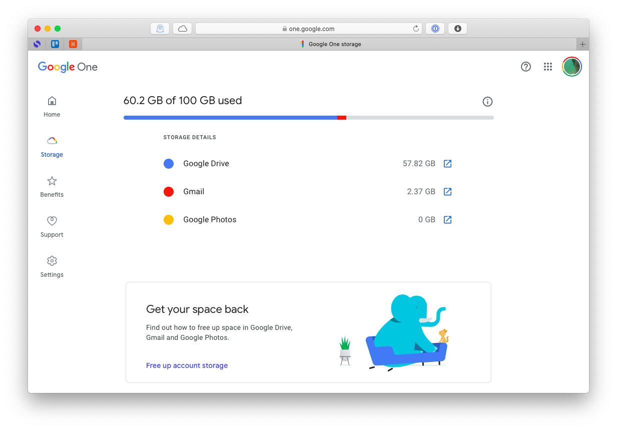 Google One - Photos free data