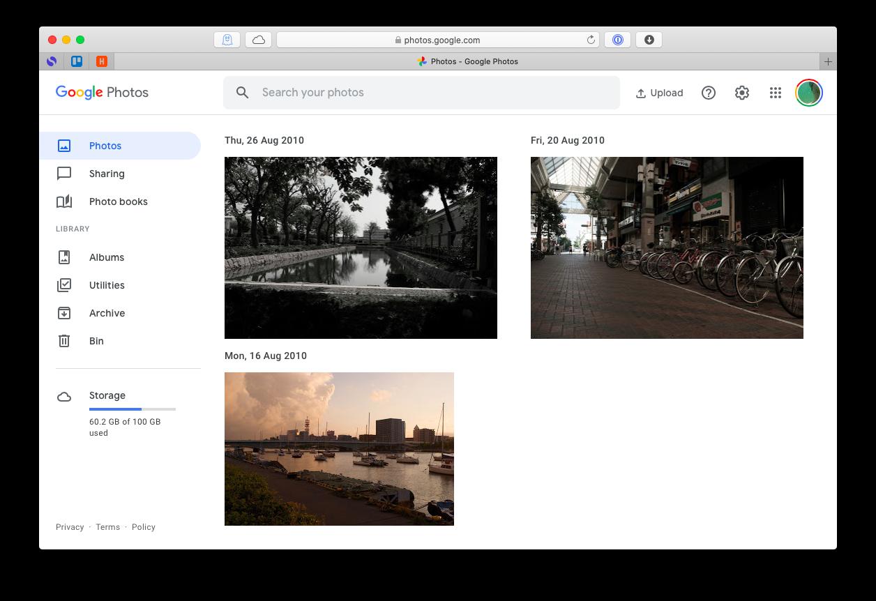 Google Photos account files