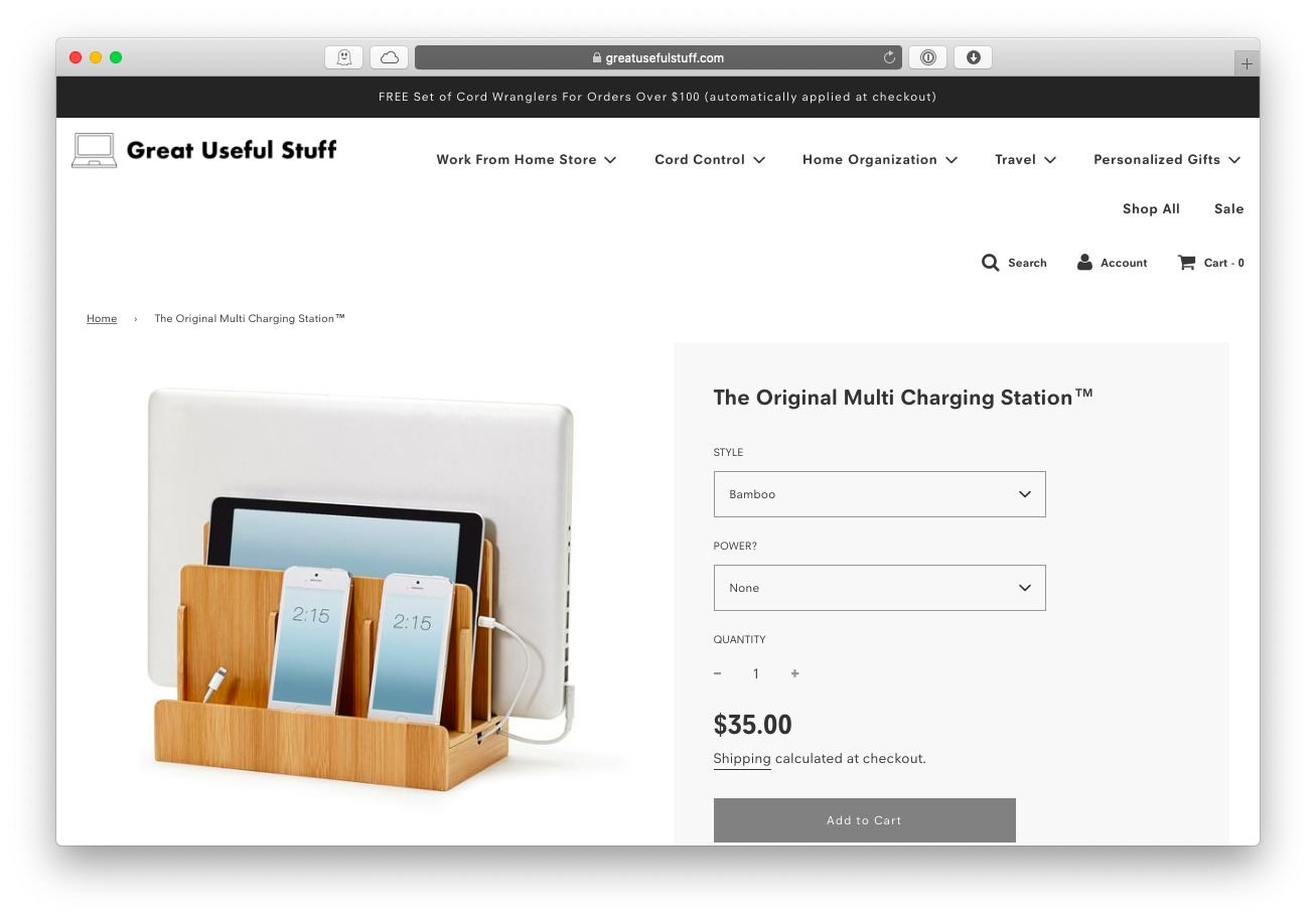 Great Useful Stuff multi device charging station