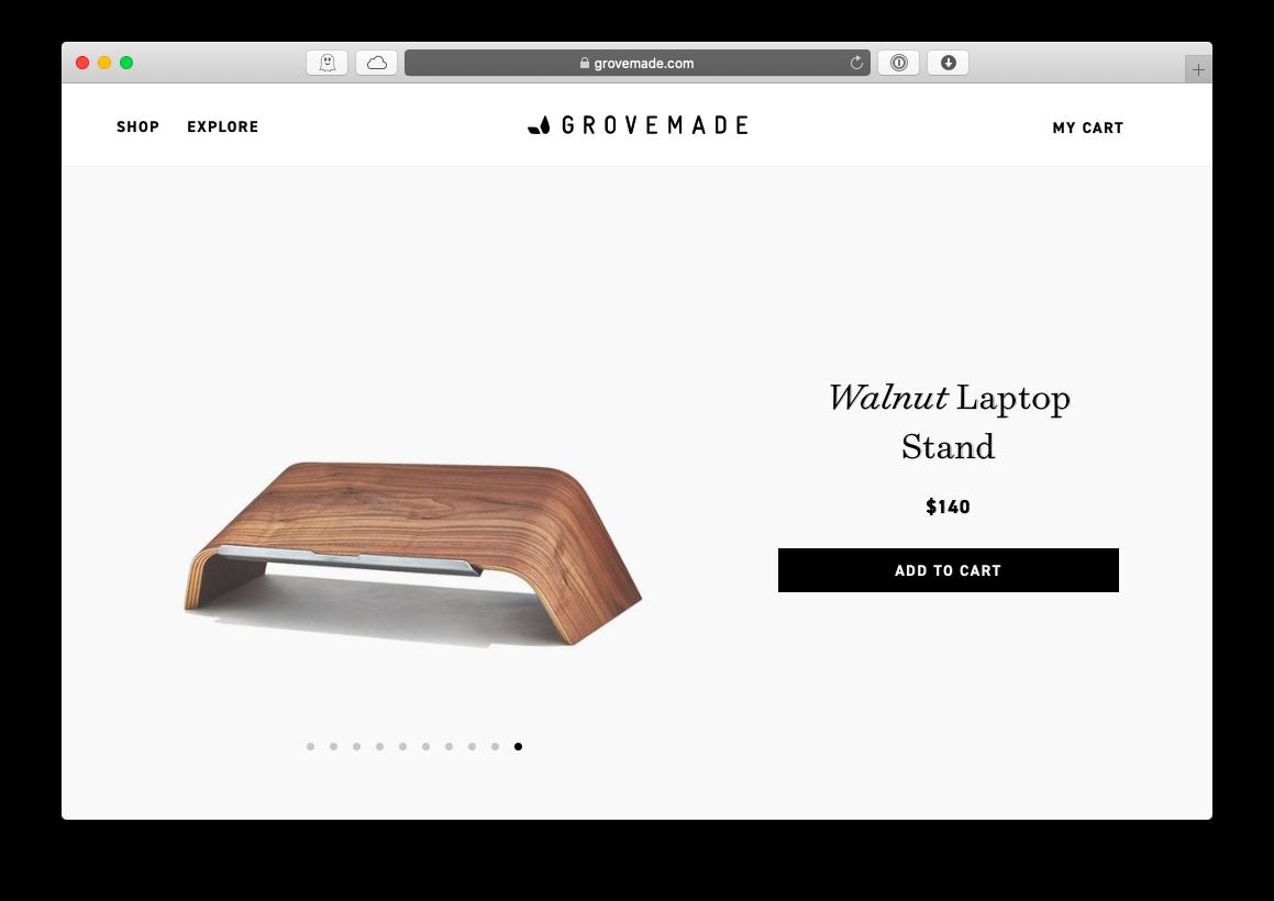 Grovemade walnut laptop MacBook stand