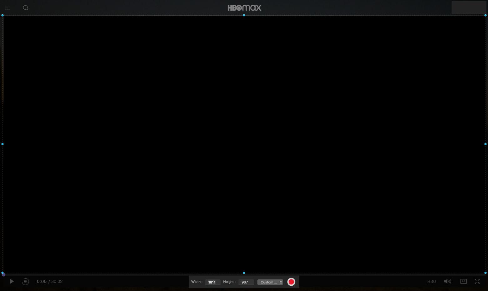 HBO Max recording app