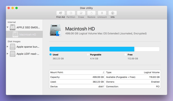 recognize disk with Disk Utility