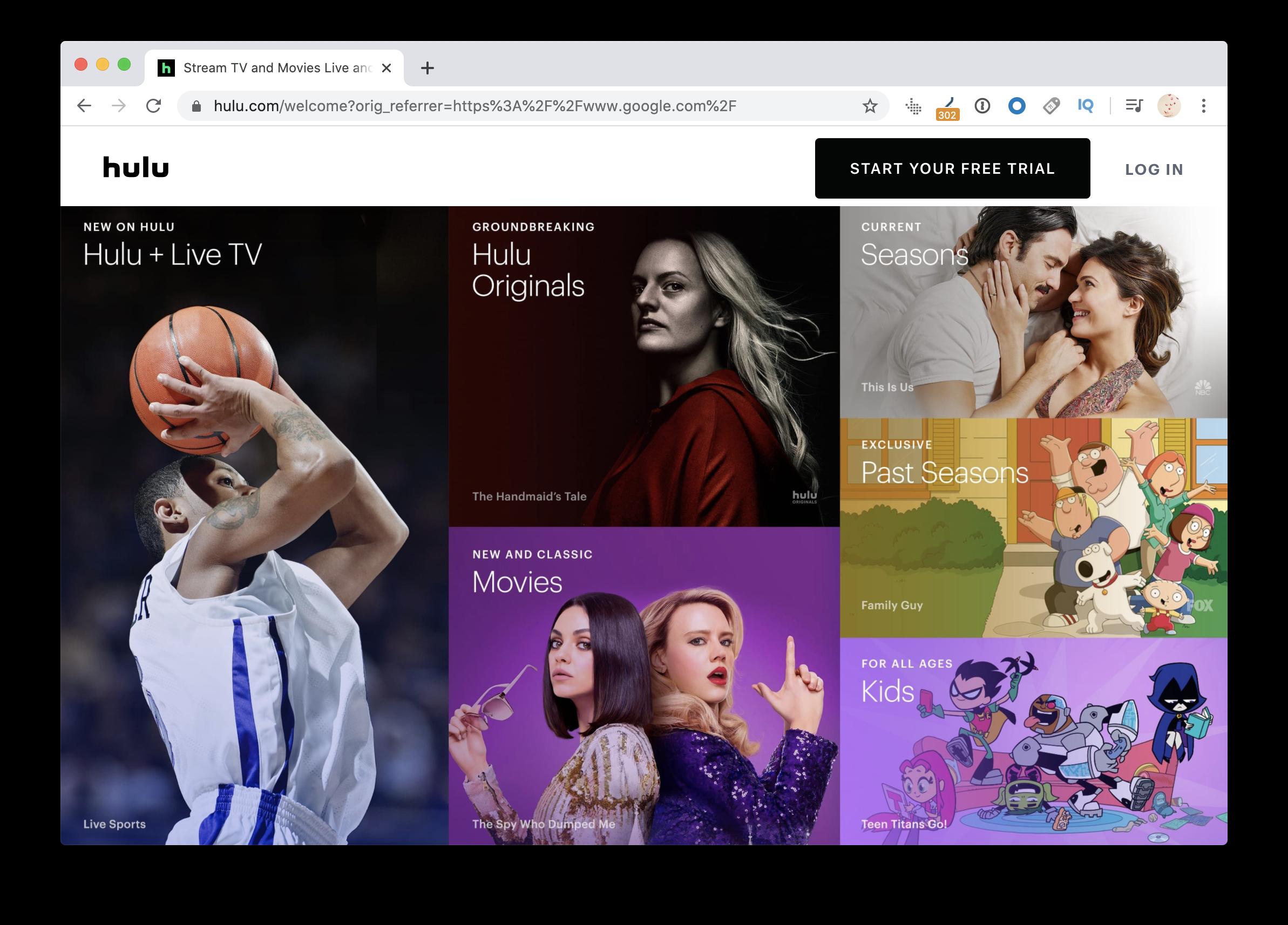 Most popular Hulu content