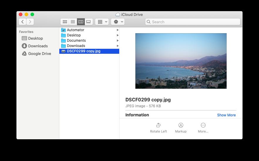 iCloud drive sync photo Mac