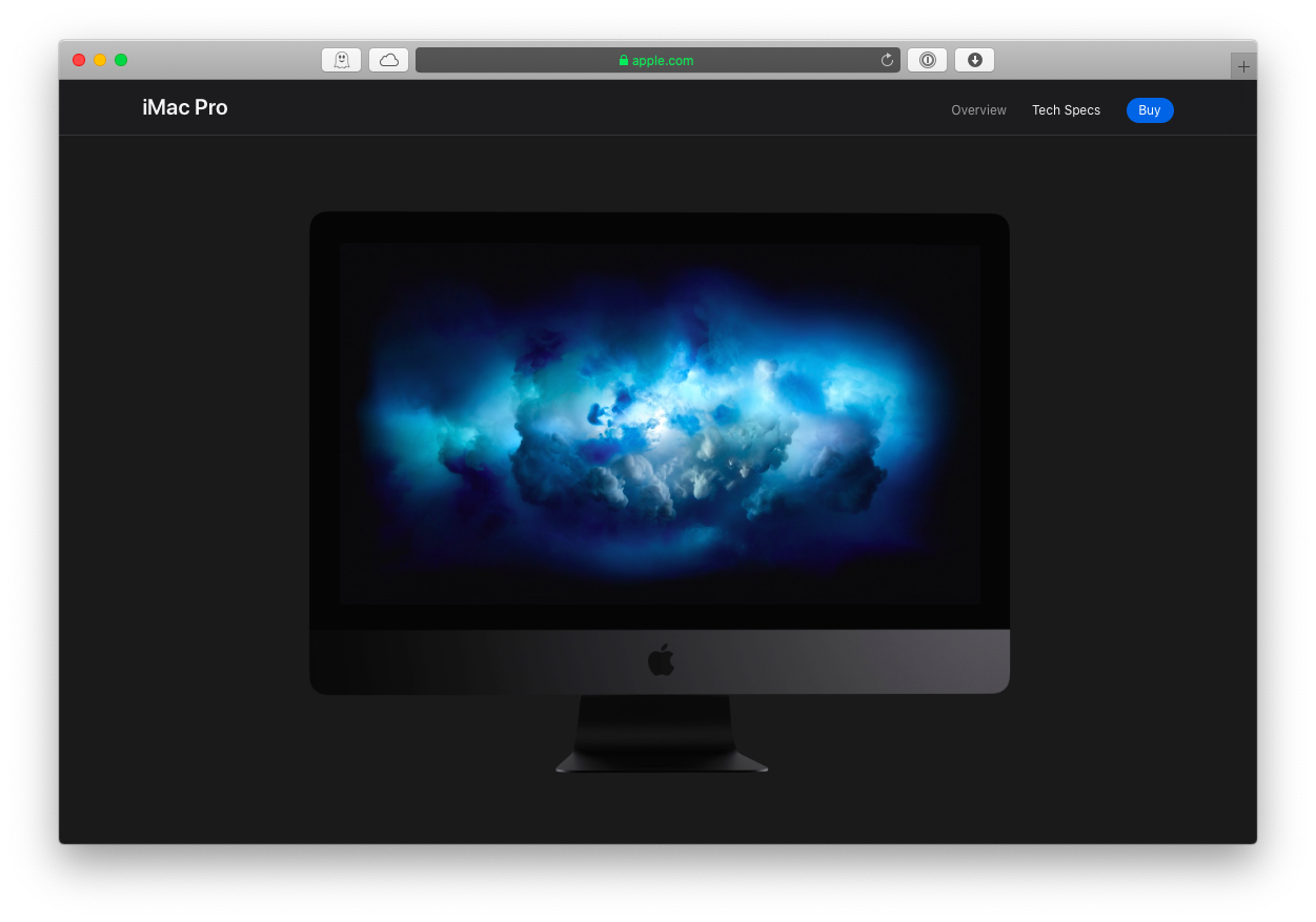 iMac Pro Apple Mac video editing