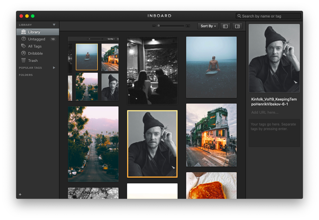Inboard image library app Mac photo