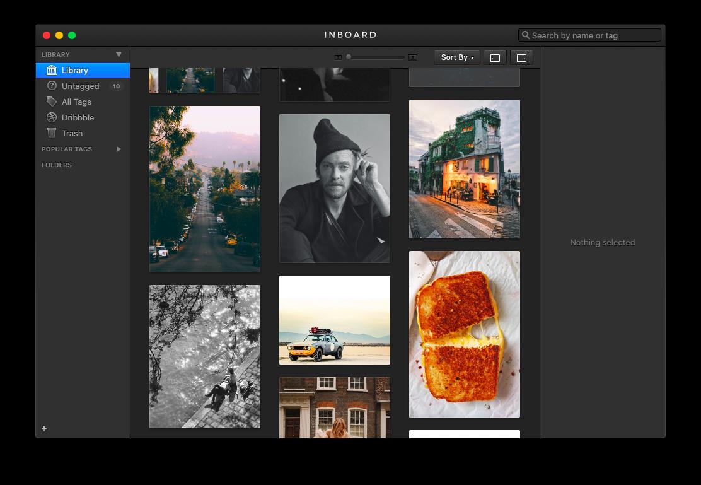 Inboard organize images Mac app