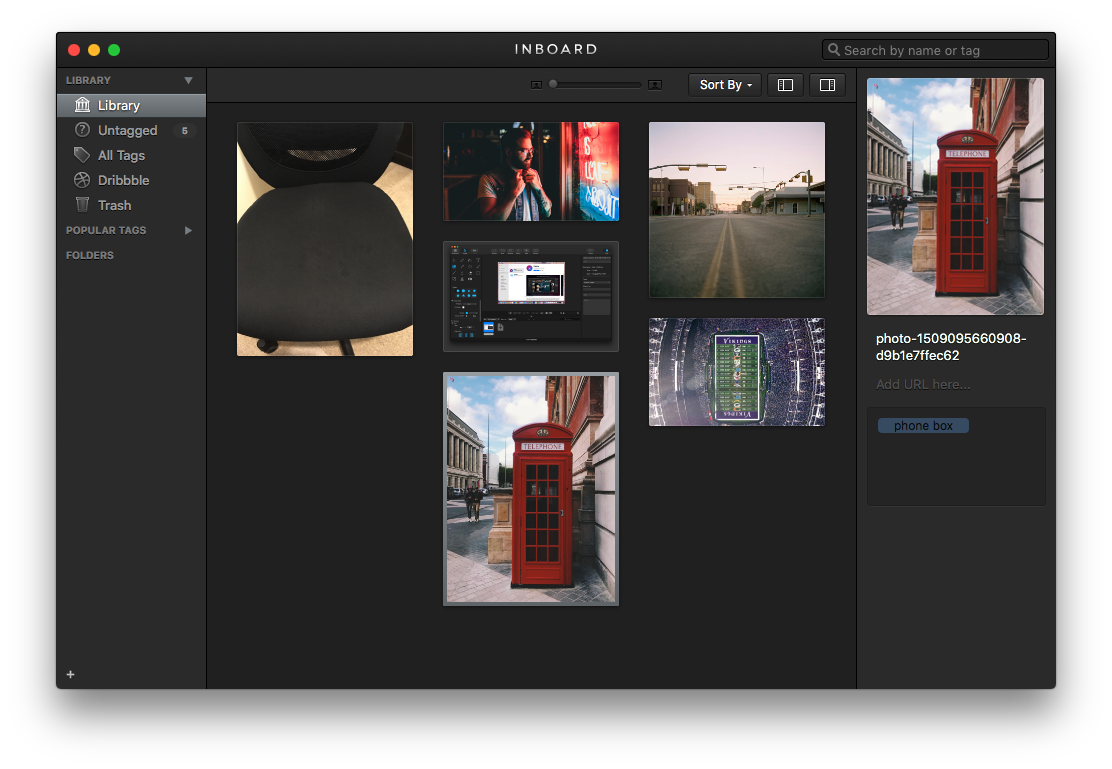 Tag and filter all of your screenshots in Inboard app