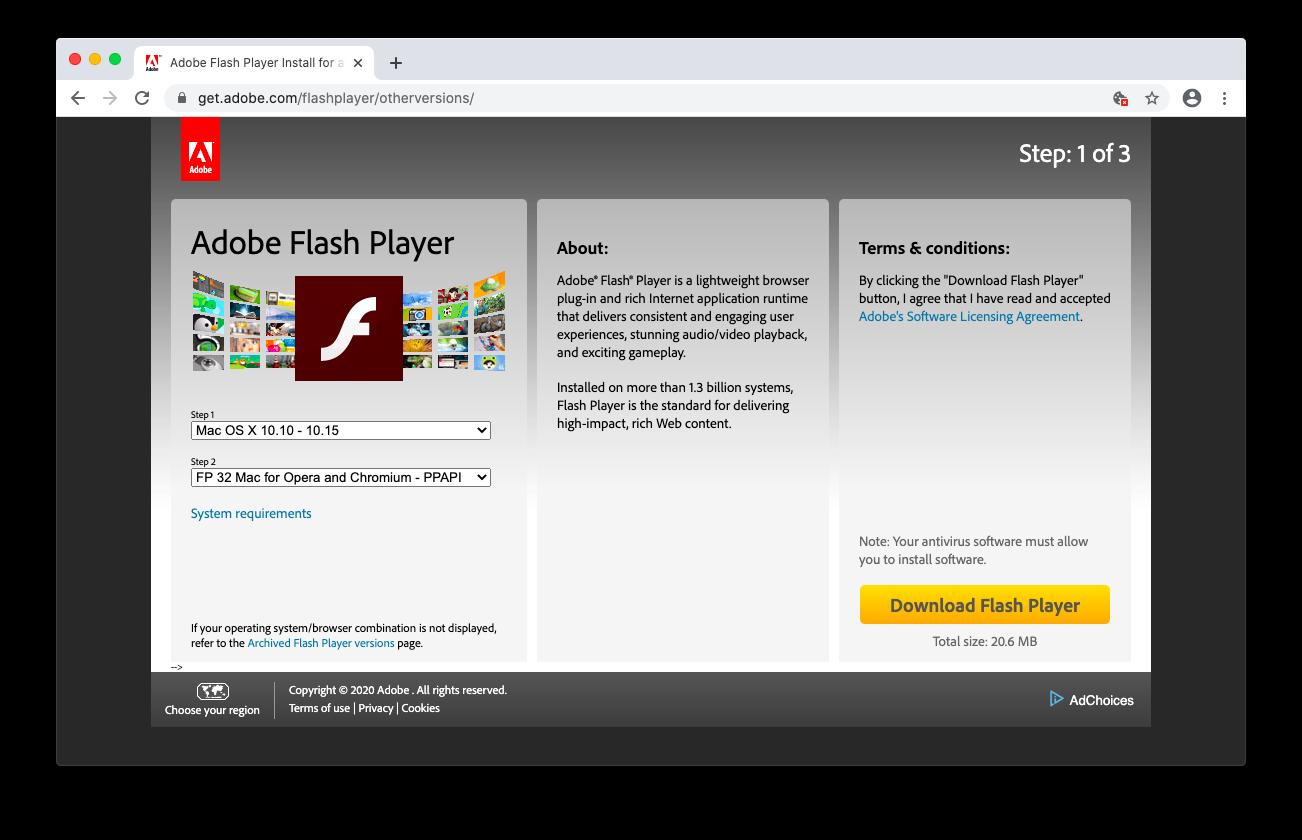 install Flash Mac Chrome