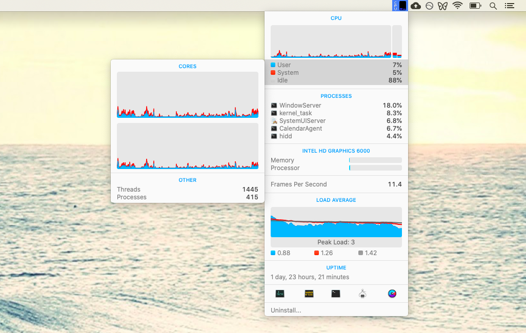 iStat Menus monitor performance Mac utility