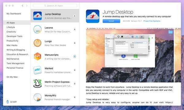Jump Desktop app