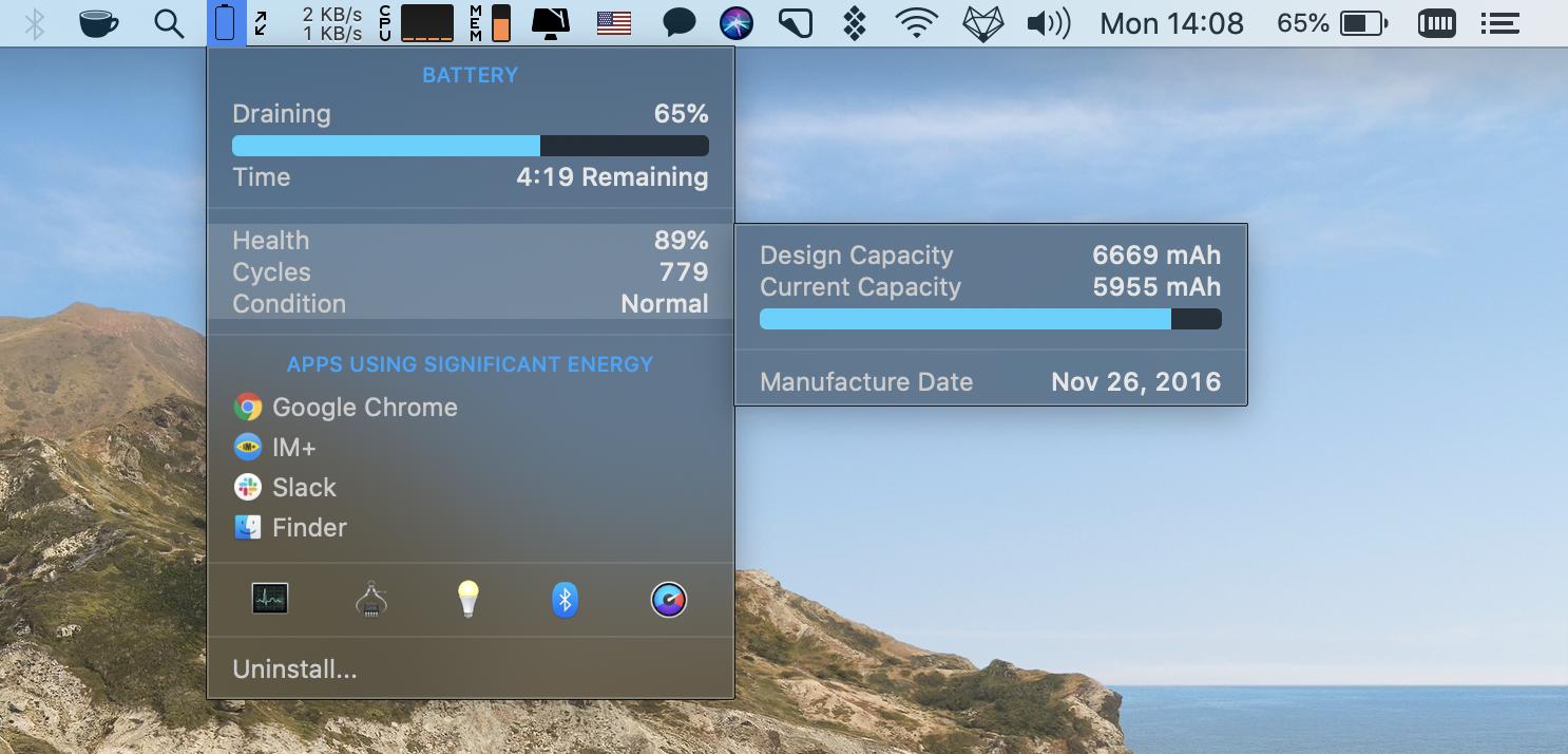 Mac battery monitoring
