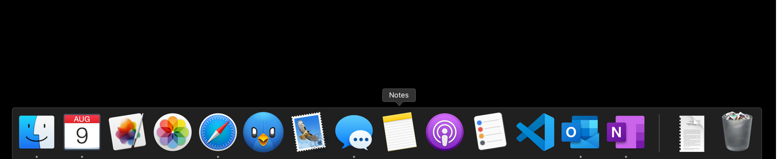 visit Mac dock menu bar