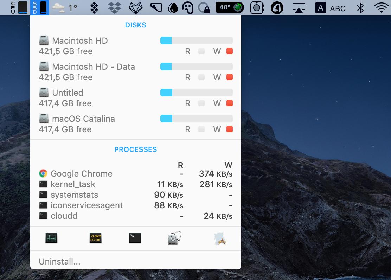 iStat menus Mac's health monitor