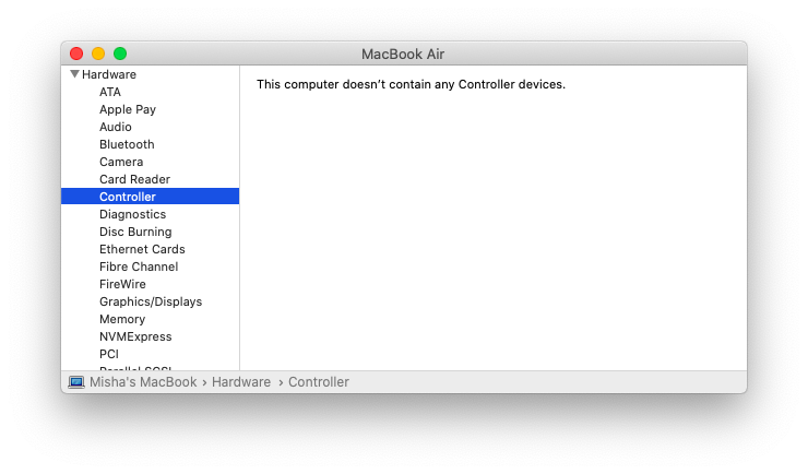 MacBook security chip controller