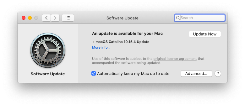 macOS update operating system Mac