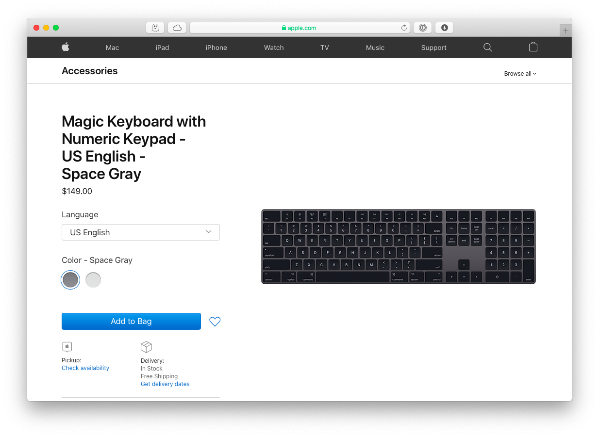 Magic keyboard and mouse Mac Apple