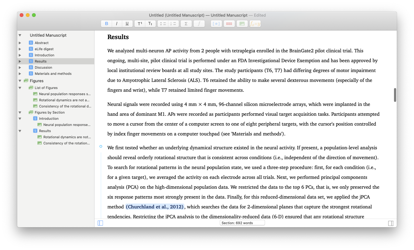 Manuscripts Mac edit create write paper