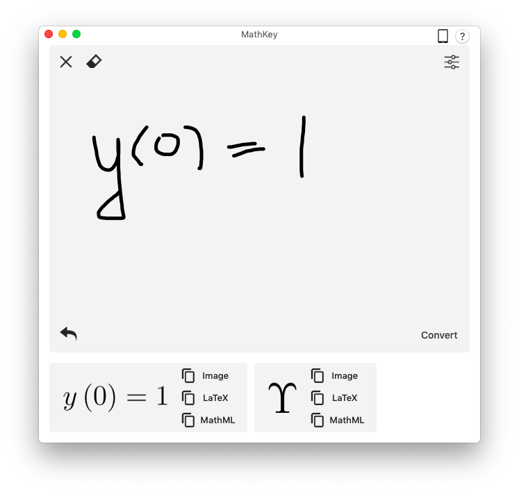 Mathkey equations latex mathml